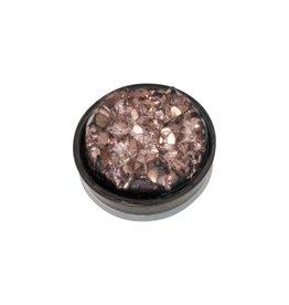 iXXXi Jewelry iXXXi Jewelry Top Part Drusy Copper Zwart