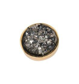 iXXXi Jewelry iXXXi Jewelry Top Part Drusy Dark Grey Goudkleurig