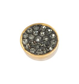 iXXXi Jewelry iXXXi Jewelry Top Part Black Diamond Stones Goudkleurig