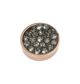 iXXXi Jewelry iXXXi Jewelry Top Part Black Diamond Stones Rosé