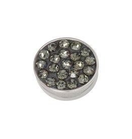 iXXXi Jewelry iXXXi Jewelry Top Part Black Diamond Stones Zilverkleurig