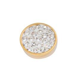 iXXXi Jewelry iXXXi Jewelry Top Part Crystal Stones Goudkleurig