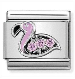 Nomination Nomination - 330304-31- Link CL SYMBOLS -  Flamingo With Pink CZ