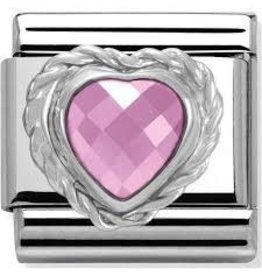 Nomination Nomination - 330603-03- Link Classic HEART FACETED CZ- Pink