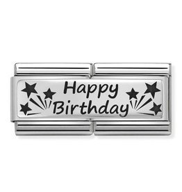 Nomination Nomination - 330710-13 - Link Classic DOUBLE ENGRAVED - Happy Birthday