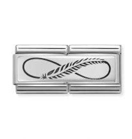 Nomination Nomination - 330710-12 - Link Classic DOUBLE ENGRAVED - Infinity Feather