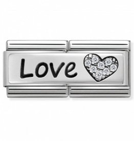 Nomination Nomination - 330731-05 - Link Classic DOUBLE ENGRAVED - Love And Heart