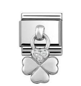 Nomination Nomination - 331800-02- Link Classic CHARMS - Four Leaf Clover