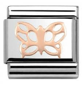 Nomination Nomination- 430104-09- Link Rosékleurig Classic SYMBOLS - Butterfly