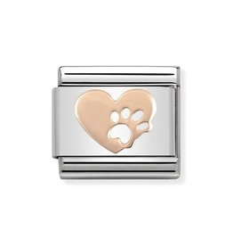 Nomination Nomination- 430104-12- Link Rosékleurig Classic SYMBOLS - Heart With Footprints