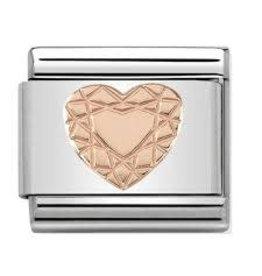 Nomination Nomination- 430104-19- Link Rosékleurig Classic SYMBOLS - Diamond Heart