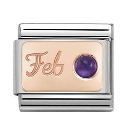 Nomination Nomination- 430508-02- Link Rosékleurig Classic STONE of MONTH - February Amethyst