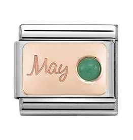 Nomination Nomination- 430508-05- Link Rosékleurig Classic STONE of MONTH - May Emerald