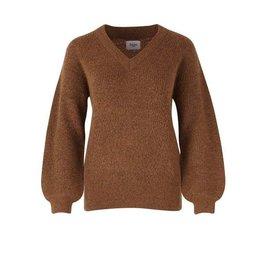 Saint Tropez Saint Tropez T2030 Knit Sweater Brown