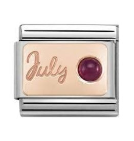 Nomination Nomination- 430508-07- Link Rosékleurig Classic STONE of MONTH - July Ruby