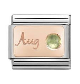 Nomination Nomination- 430508-08- Link Rosékleurig Classic STONE of MONTH - August Peridot