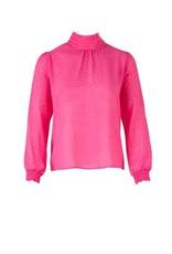 Saint Tropez Saint Tropez T1044 Chiffon Jaquard Blouse Pink