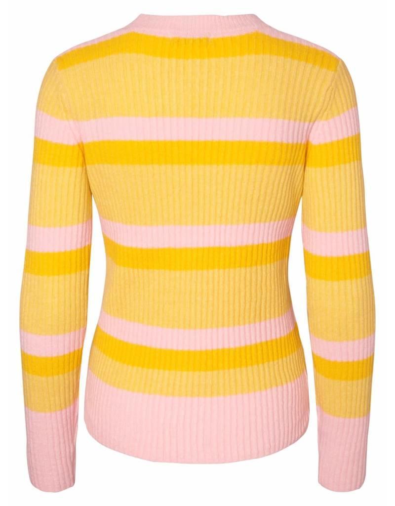 Pieces PC Belka Knit Lemon/Candy