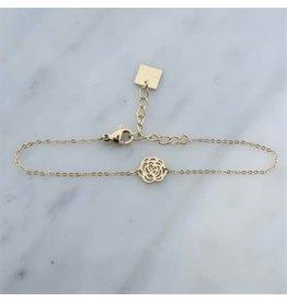 Zag Bijoux Zag Bijoux Bracelet Rose Goudkleurig