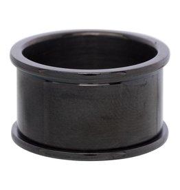 iXXXi Jewelry iXXXi Jewelry Basis Ring 12 mm Zwart