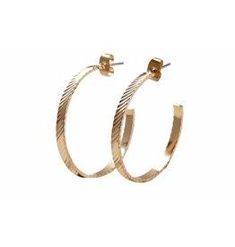 Pieces PC Sandra Hoop Earrings Style 2 Goudkleurig