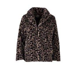 Saint Tropez Saint Tropez T7041  Leopard Faux Fur Jacket
