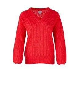 Saint Tropez Saint Tropez T2065 Knit W Lace Red