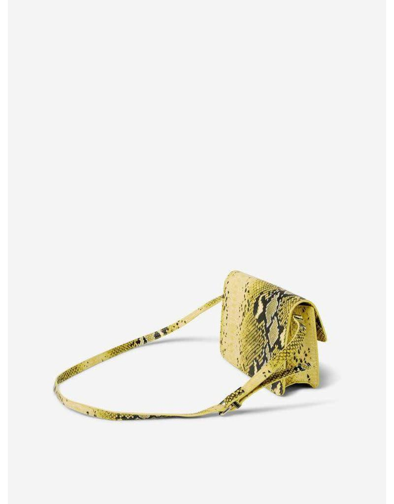 Pieces PC Bina Croco Crossbody Bag Lemon Chrome