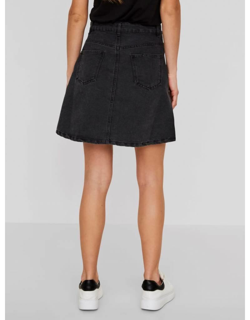 3360ccd21bf9df ... Noisy May NM Sunny Short Denim Skater Skirt Black ...