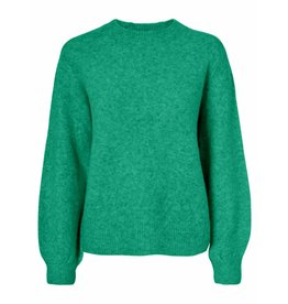 Pieces Pieces Belina LS Wool Knit Camp Simply Green/Melange