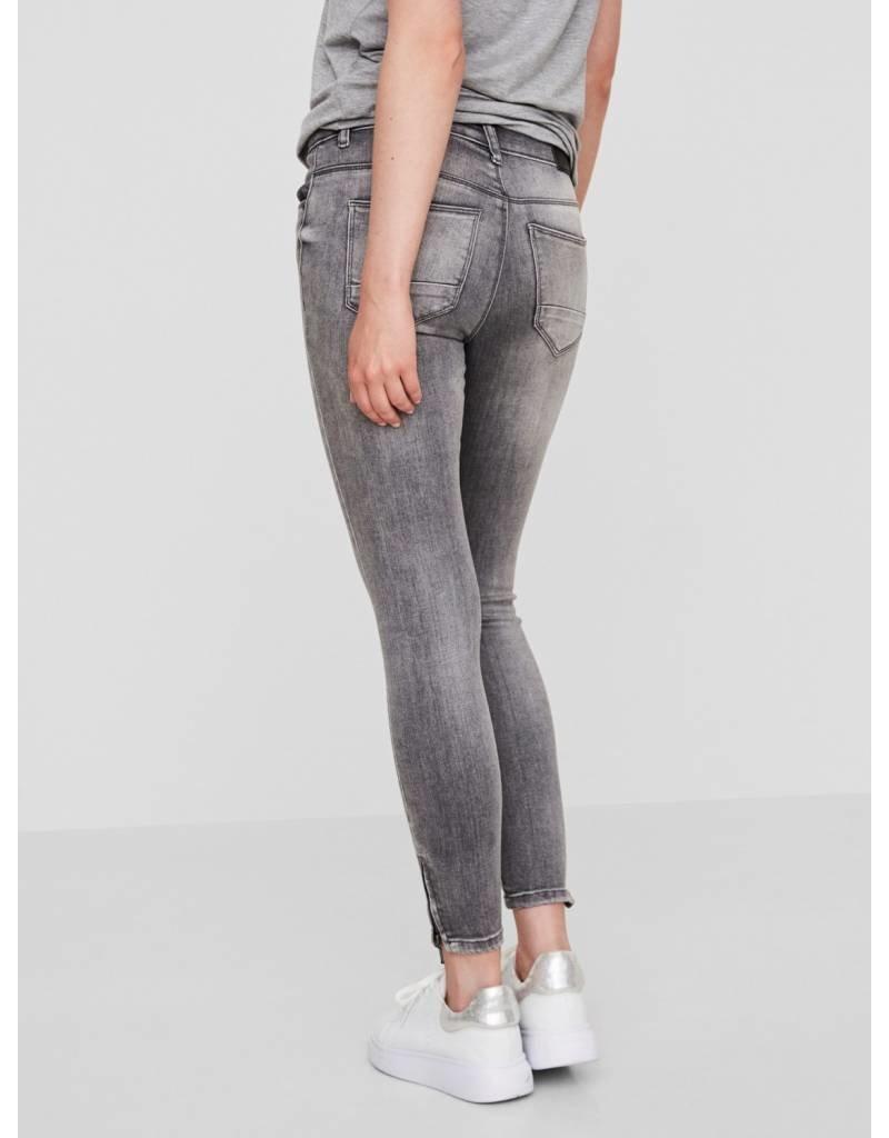 Noisy May Noisy May Kimmy NW Ankle Zip Jeans Light Grey
