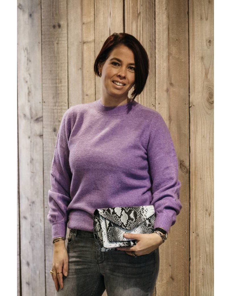 Pieces Pieces Belina LS Wool Knit Camp English Lavendel/Melange