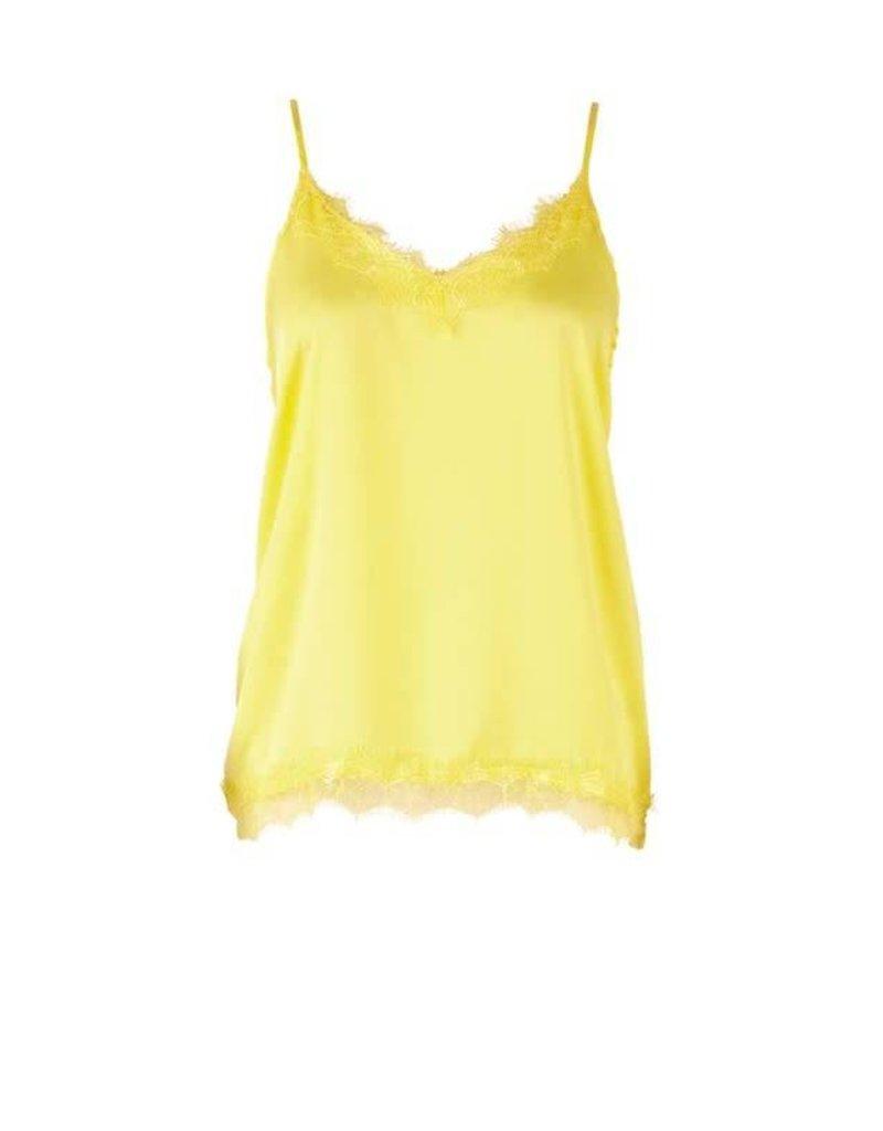 Saint Tropez Saint Tropez R1071 Singlet Top Lace Yellow