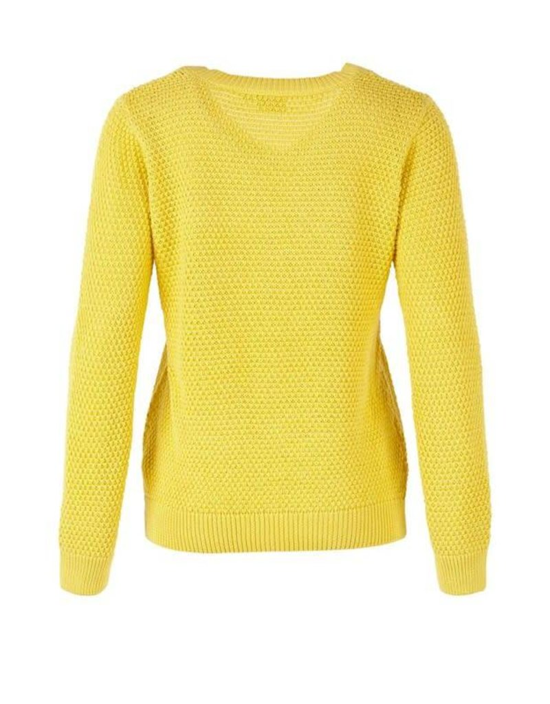 Saint Tropez Saint Tropez T2560 Pointelle Knit Sweater Yellow