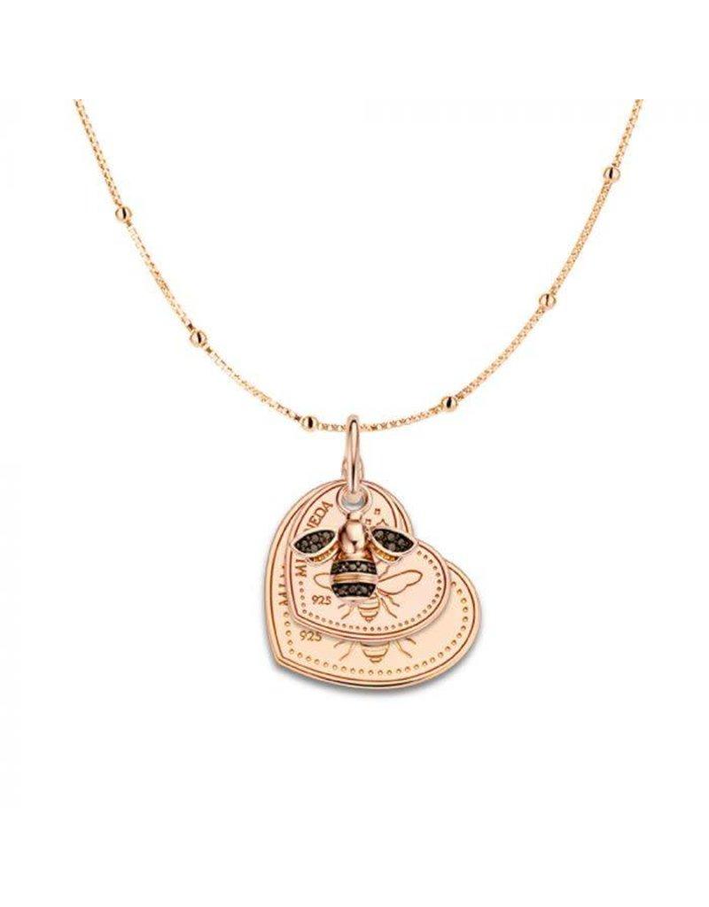 Mi Moneda Monogram MMM Queen Bee Necklace Set Rosé