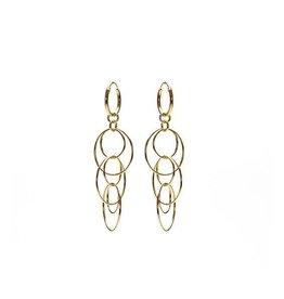 Karma Karma Hoops Symbols Big Hanging Circles Goldplated