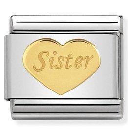 Nomination Nomination - 030162/36 Link Sister Heart Goudkleurig