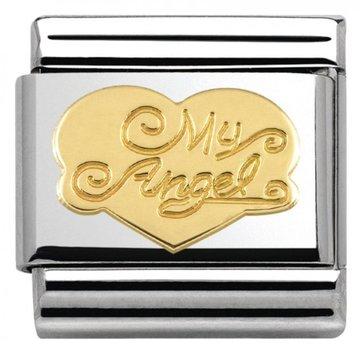 Nomination Nomination - 030116/21 Link Love My Angel Heart 18k Goud