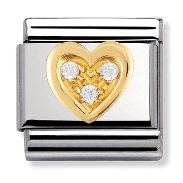 Nomination Nomination - 030311/11 Link Love White Heart 18k Goud