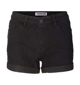 Noisy May Noisy May NMBE Lucy Denim Fold Shorts Black