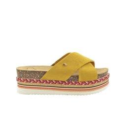 Fabs Shoes Fabs Sandals Oker Geel