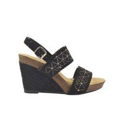 Fabs Shoes Fabs Sandals Zwart Zilver