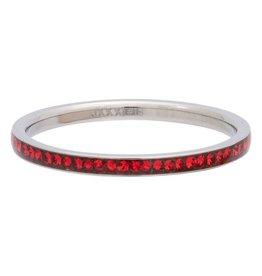 iXXXi Jewelry iXXXi Jewelry Vulring 2mm Zirconia Light Siam Zilverkleurig