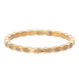 iXXXi Jewelry iXXXi Jewelry Vulring 2mm Oval Shape Goudkleurig