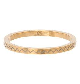 iXXXi Jewelry iXXXi Jewelry Vulring 2mm Heartbeat Goudkleurig