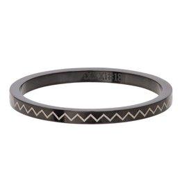 iXXXi Jewelry iXXXi Jewelry Vulring 2mm Heartbeat Zwart