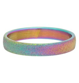 iXXXi Jewelry iXXXi Jewelry Vulring 4mm Sandblasted Rainbow