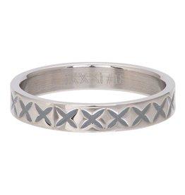 iXXXi Jewelry iXXXi Jewelry Vulring 4mm X Line Zilverkleurig