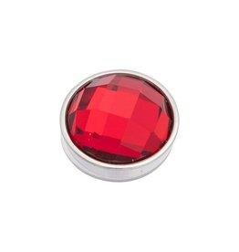 iXXXi Jewelry iXXXi Jewelry Top Part Facet Red Zilverkleurig