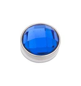 iXXXi Jewelry iXXXi Jewelry Top Part Facet Capri Blue Zilverkleurig
